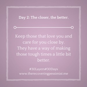 The Recovering Pessimist: Day 2 #30layers#30days -- The closer, the better. | www.therecoveringpessimist.me #30Layers#30Days #recoveringpessimist #optimisticpessimist #amwriting