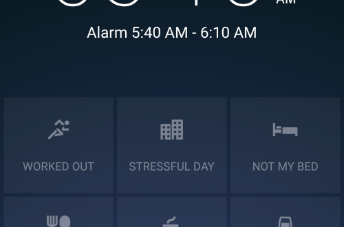 Sleep Better App Alarm Menu