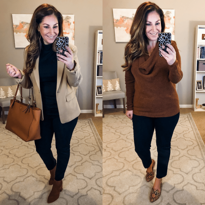 Business Looks with black ankle pants and neutral tops for winter 2019 #teacherstyle #corporatestyle  #thecorporatelife #corporatefashion  #office  #womeninsuits #networking #work #office #officeattire #workootd #worklook #workwear #weartowork #workfashion #workstyle #whatiweartowork