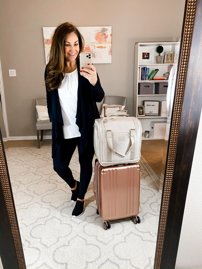 Packing for a weekend girls trip to Vegas using only carry-on luggage. Get 4 daytime outfits, 4 night outfits and a full packing list.