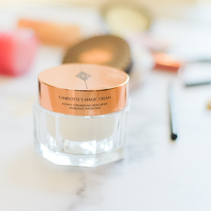 Charlotte Tilbury Magic Cream is great under makeup and provides moisture and silky smooth skin.