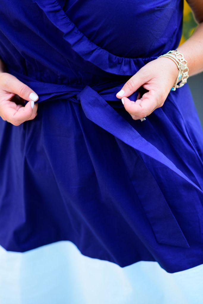 Gibson Look x Hi Sugarplum Sunbrella Ruffle Colorblock Wrap Dress // Celebrate Summer collection // Summer 2020