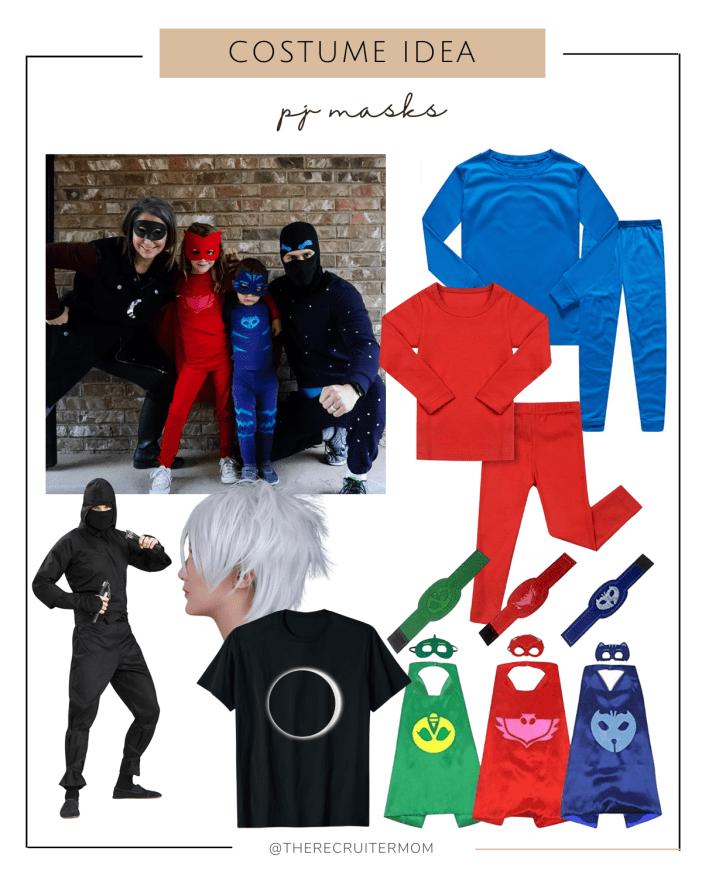 PJ Masks Costume Ideas #familycostumeideas #amazonhalloweencostumes #halloween #pjmasks