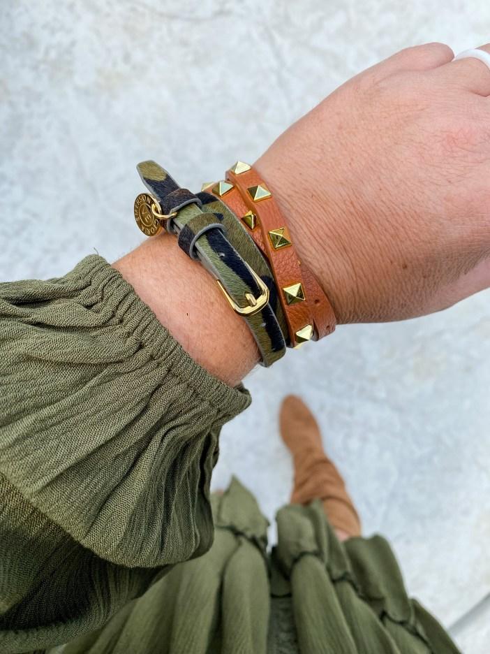 Camo wrap bracelet #wrapbracelet #womensaccessories #falljewelry