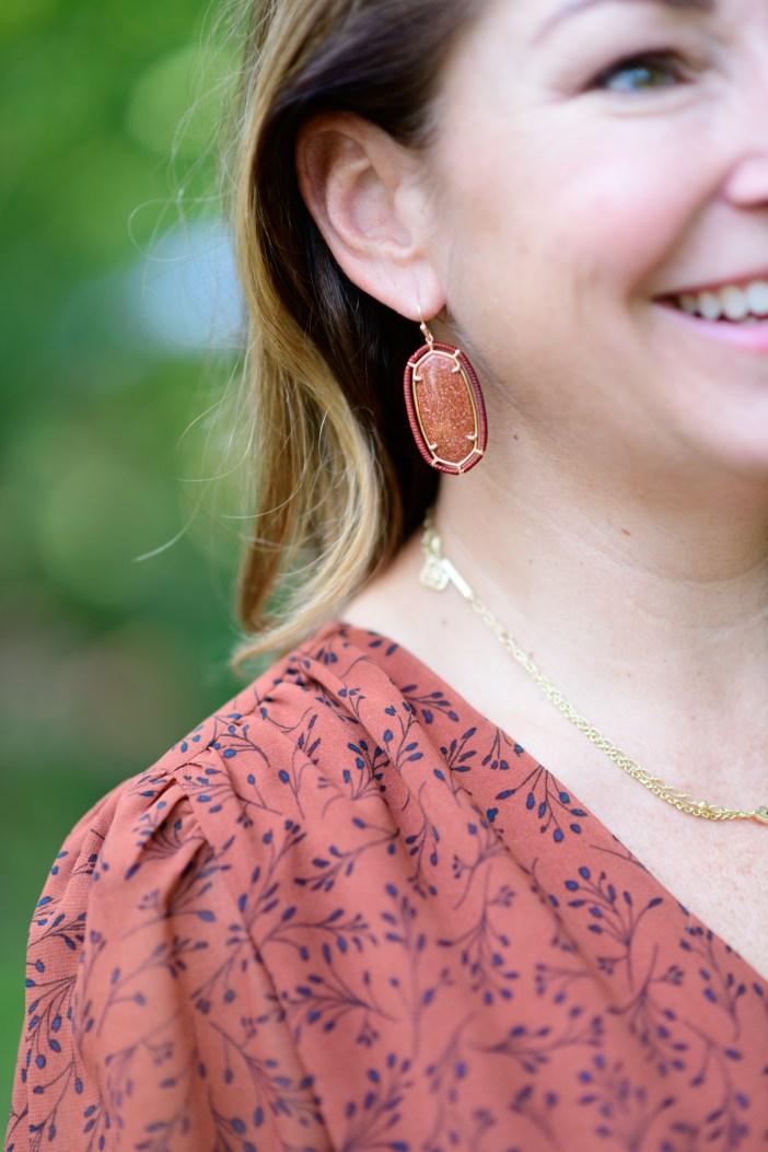 Kendra Scott Fall Earrings #fallstyle #fallfashion #womensfashion #womensclothing #kendrascott