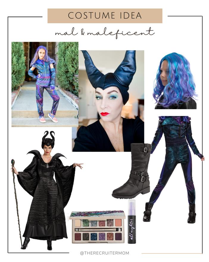 Maleficent and Mal Costume Ideas #girlscostumes #womenscostumes #halloween #amazoncostumes