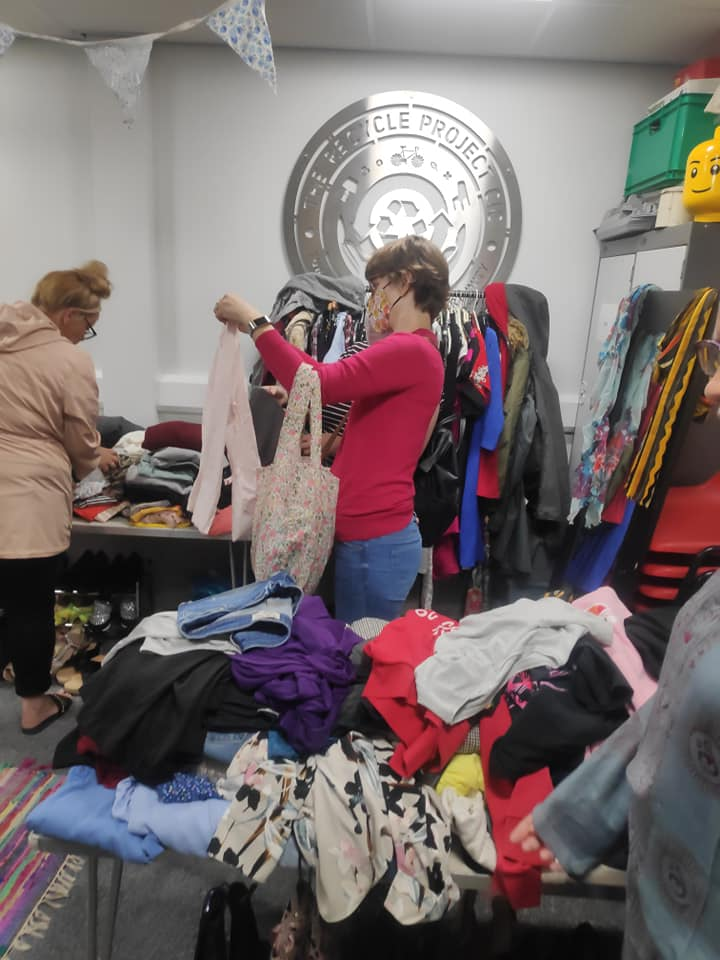customers shopping within the recycle project