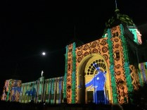 Royal Exhibition Building illuminated 1