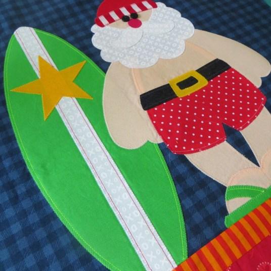 surfing santa