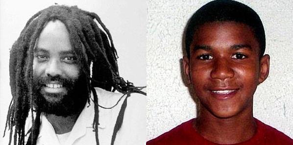 Trayvon-Martin-Mumia-Abu-Jamal