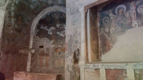 Temple of Romulos - ancient worshiping and christian icons