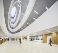 Inside of the modern National Library of Finland