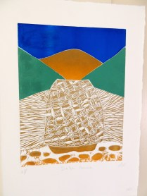 Summer Solstice 2013 - The Delphi Oracle - Jigsaw Linocut