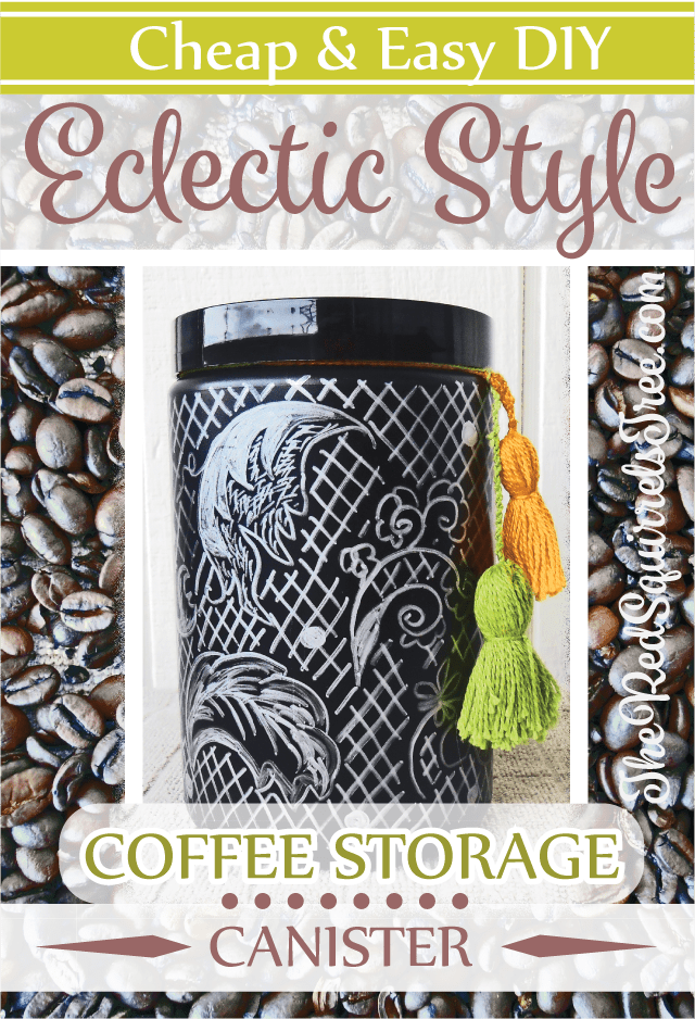 DIY Eclectic Style Coffee Canister
