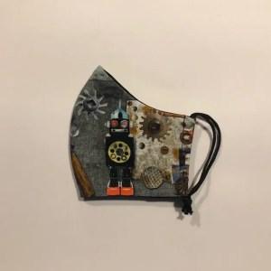 Mondkapje #Robot grijs
