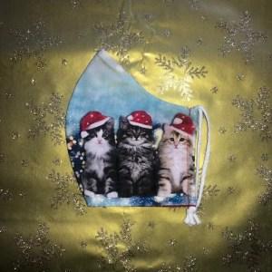 Mondkapje #Kerst Kat Groot