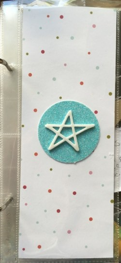 The front of my to-do list page. I love the foam star.