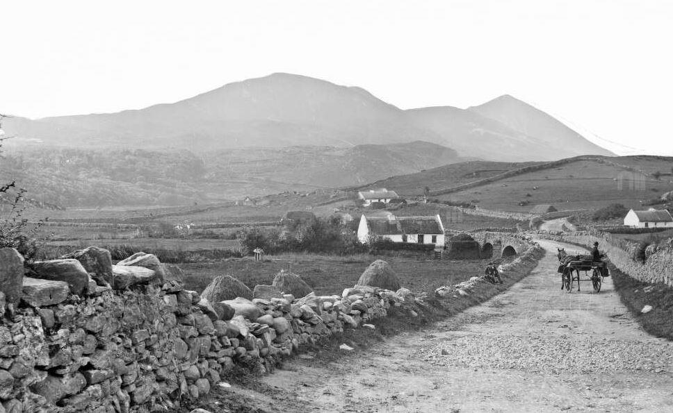 Looking towards Croagh Patrick around 1900 (Robert French, 1841-1917 photographer)