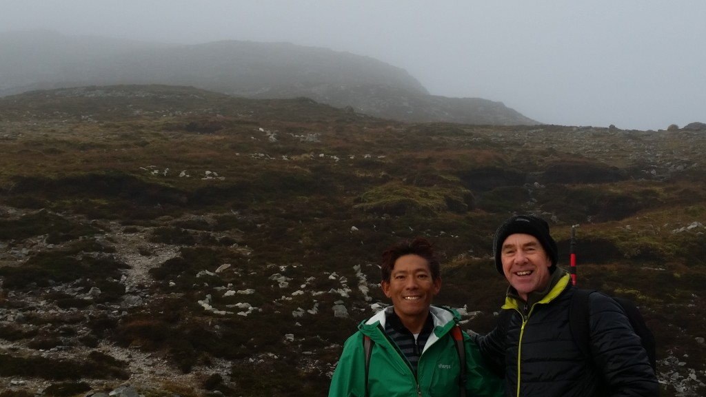 Mingma Tsiri and the author on the should of Croagh Patrick