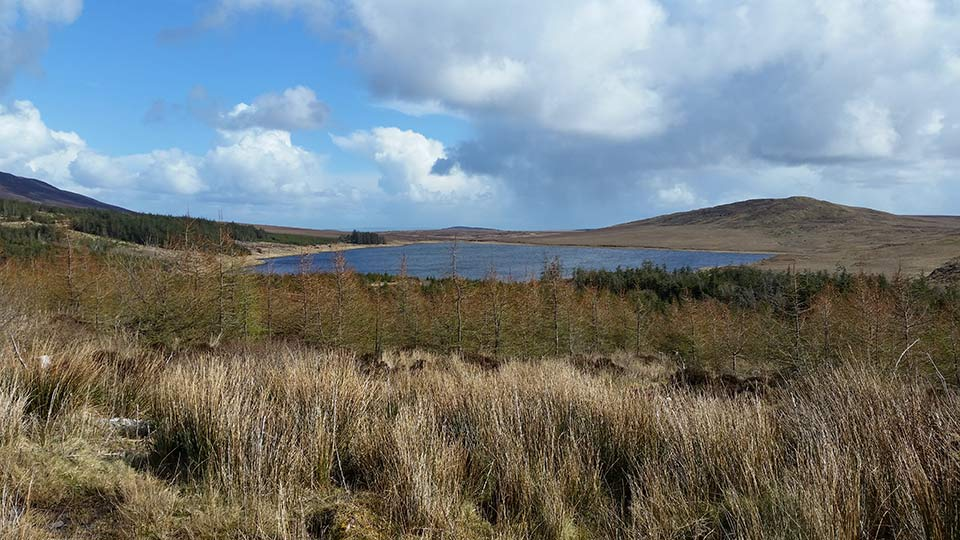 Lough Nacorra from Owenwee - resting place of Saint Patrick's nemesis Corra
