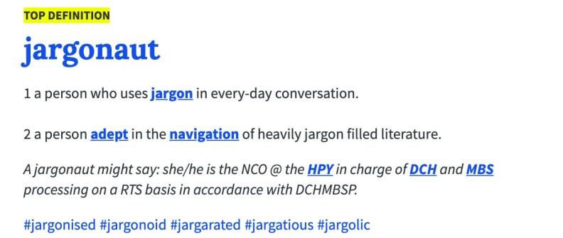 jargonaut definition