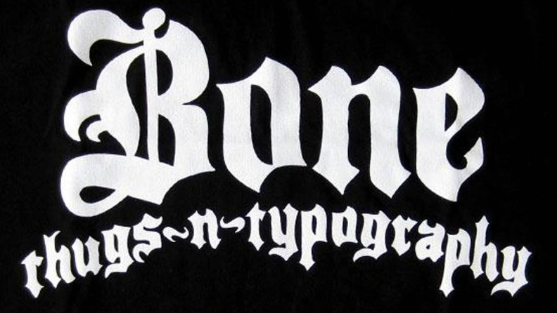 bone thugs-n-typography t-shirt