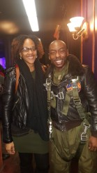 Host Meah Denee & Actor Lamar K. Cheston after his performance on Black Angels Over Tuskegee