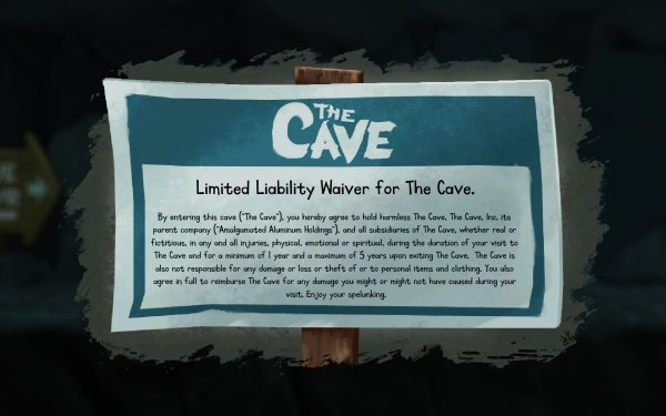 The Cave Screenshot Wallpaper Limited Liability Waiver