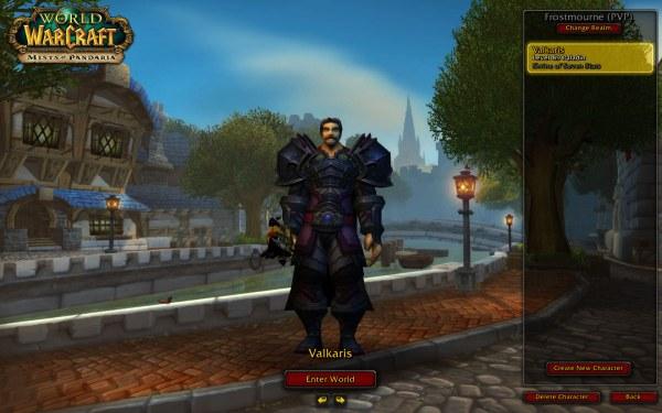 World of Warcraft Mists of Pandaria Screenshot Wallpaper Character Selection