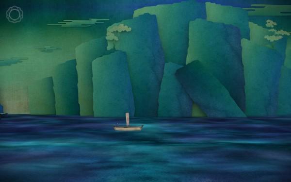Tengami Review Screenshot Wallpaper Sailing on the Ocean