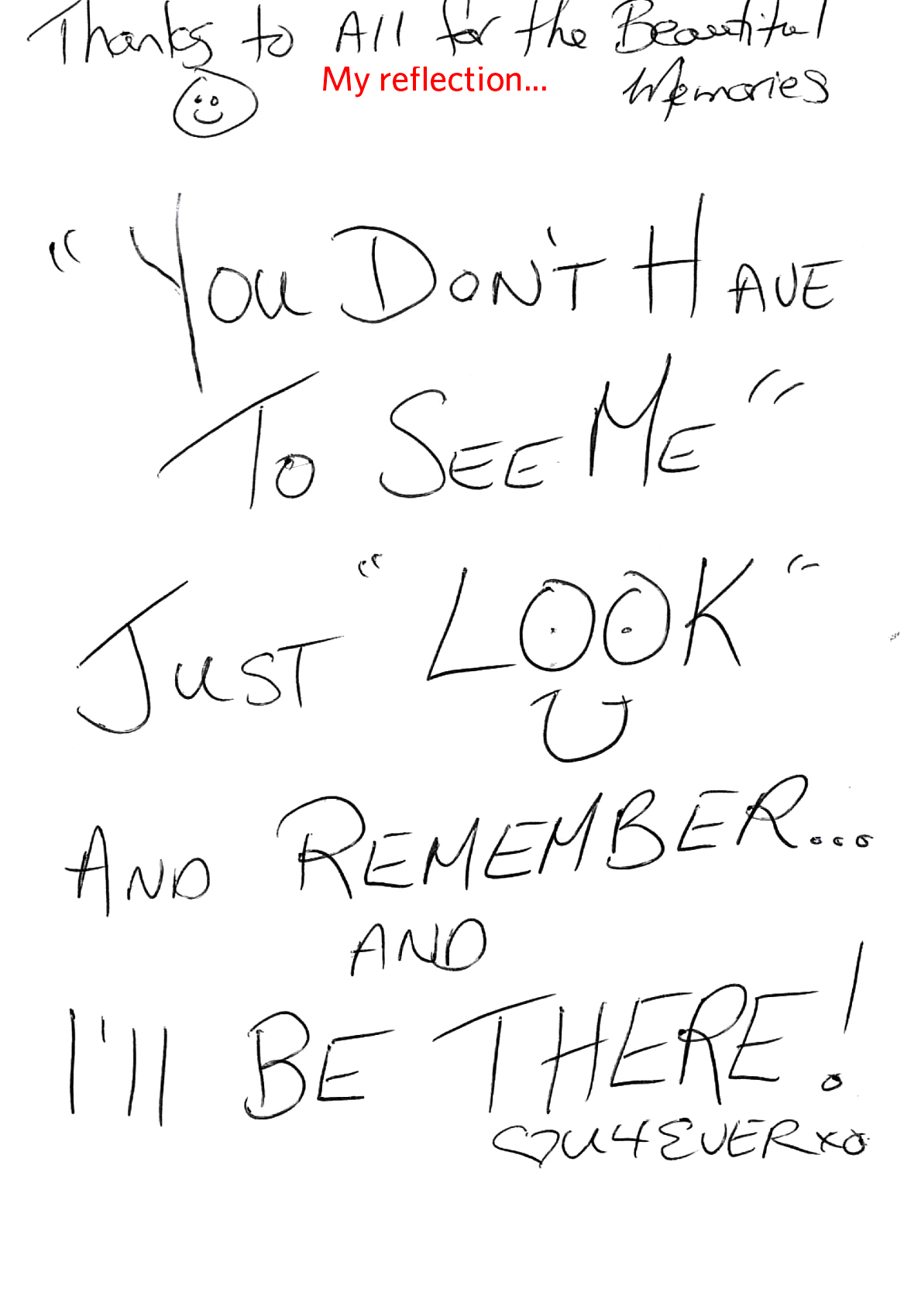 Just look and remember