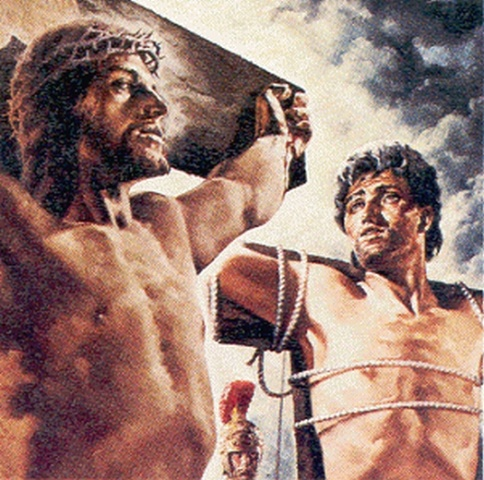 Image result for Pictures of thieves on the cross