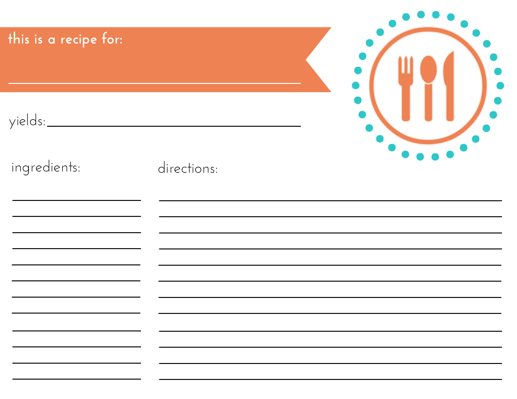 How To Organize Your Recipes Free Printables Refurbished