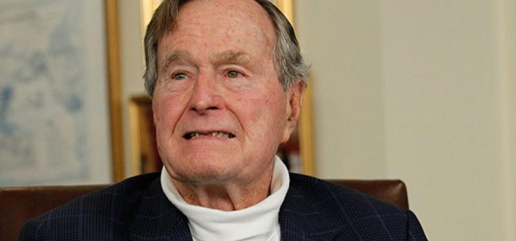 George Bush apologises as actress accuses ex- President of sexual assault