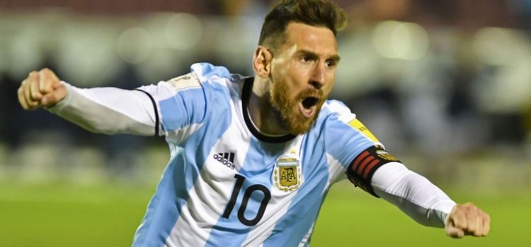 ​Messi's hat-trick sends Argentina to Russia 2018