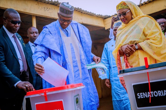 Buhari casting his vote