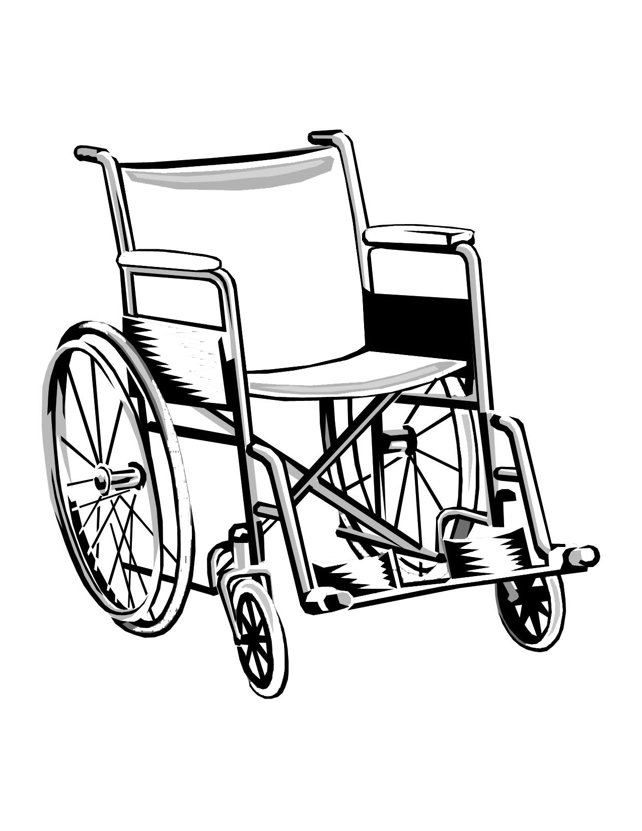 Wheelchair Coloring Pages Printable Coloring Pages