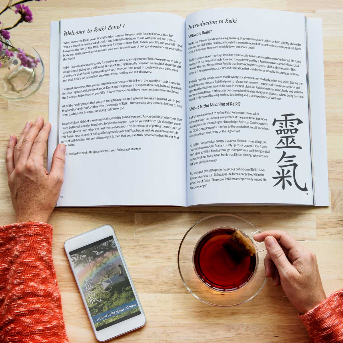 The Reiki Guide Academy's Certified Reiki Master Course Content