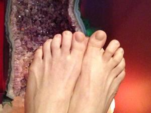 Happy Feet after reflexology foot massage