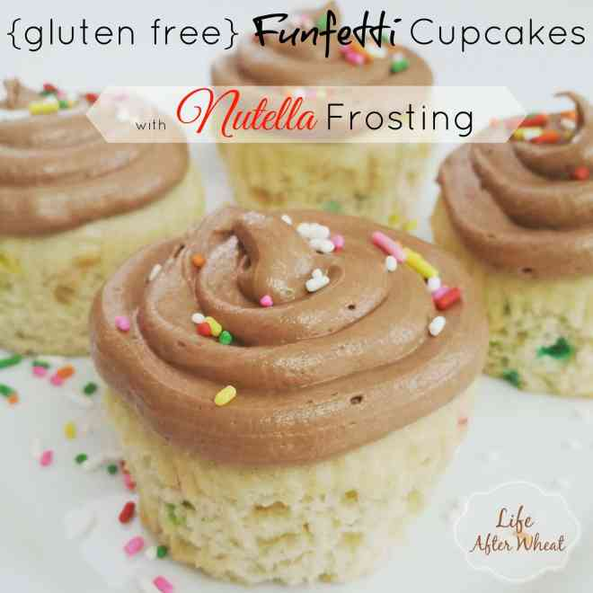 Funfetti Cupcakes with Nutella Frosting