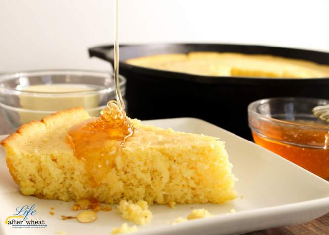 The most tender, flavorful cornbread that is perfectly browned on the edges. Comfort food at its finest! Gluten Free.