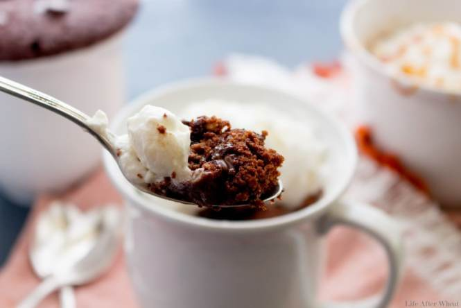 Craving something sweet? Whip up this single serving chocolate cake in your favorite mug, pop it in the microwave,and enjoy! Ready in 5 minutes flat, it's an easy dessert recipe everyone will love. Gluten free, and free from the top 8 allergens, but with all the taste you would expect from a delicious chocolate cake!