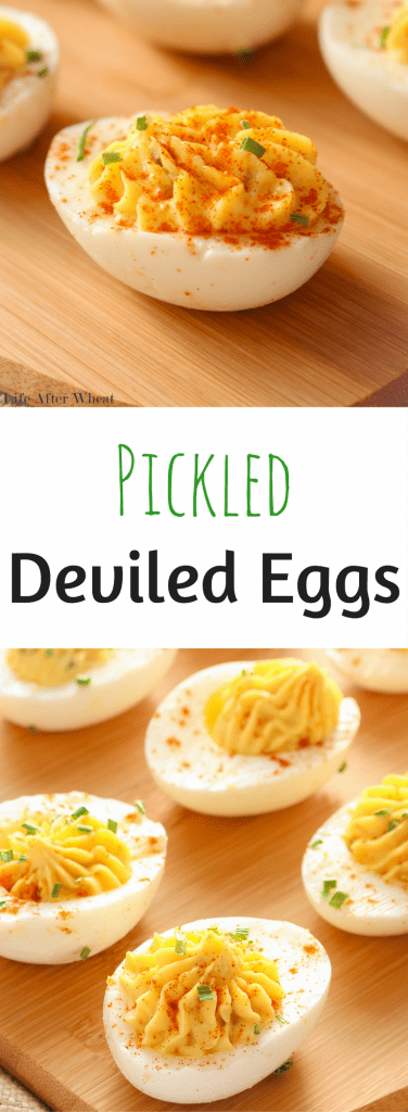A deviled egg recipe with a very simple twist.The addition of pickle relish gives these gluten free deviled eggs a flavor boost.