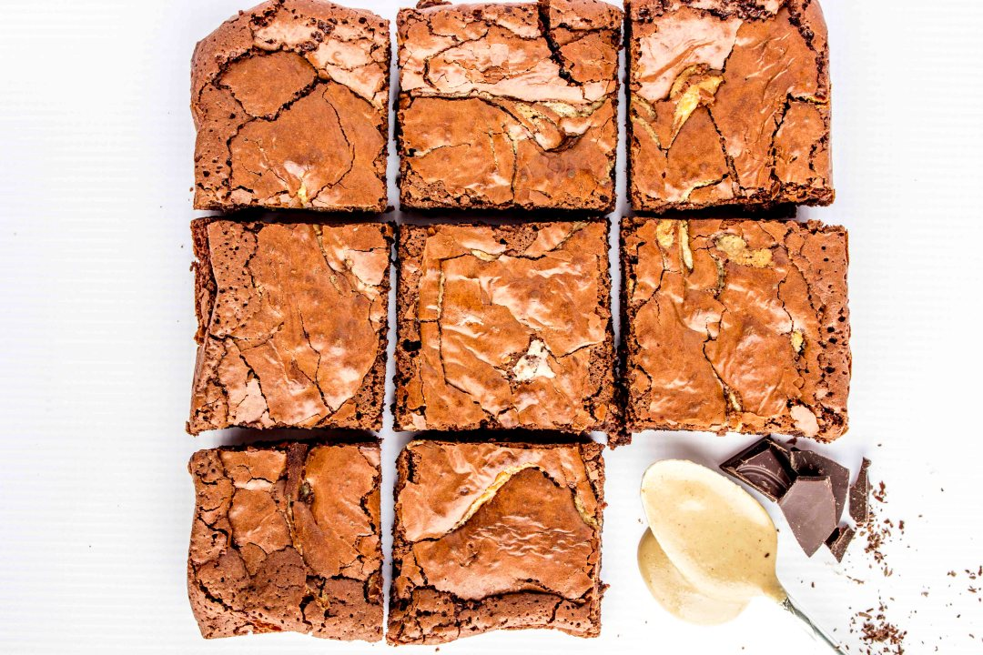 Gluten Free Chocolate Tahini Brownies