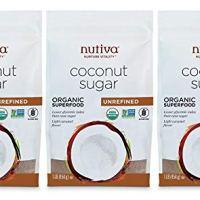 Nutiva USDA Certified Organic, non-GMO, Unrefined Granulated Coconut Sugar, 1-pound (Pack of 3)