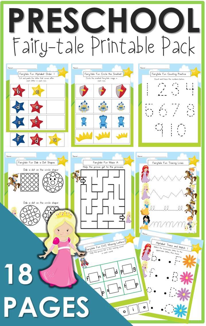 Preschool Fairy Tale Printable Pack The Relaxed Homeschool