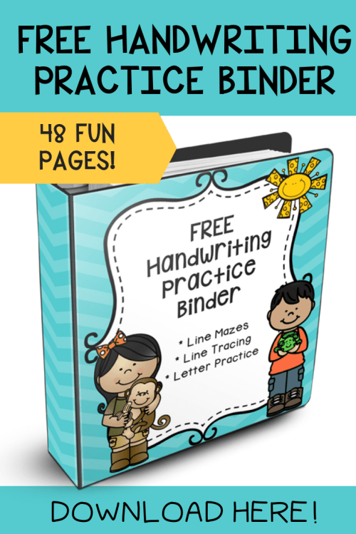 small resolution of FREE Handwriting Sheets That Will Improve Your Child's Handwriting!