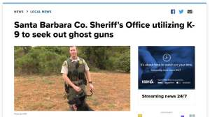 Ghost Gun Sniffing Dogs