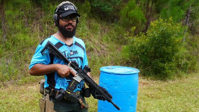 Christian Nelson competes at the Gun Makers Match on June 19th, 2021