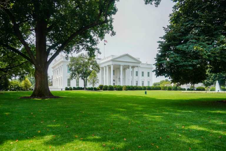 The White House as seen from Lafayette Square